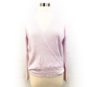 Elodie Wrap Front Lilac Sweater - L